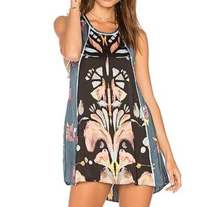 Free People Dream Free Printed Tunic Mini Dress L